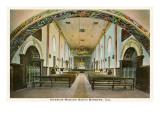 Interior, Mission at Santa Barbara, California Prints