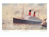 Cunard Carmania, Ocean Liner Poster