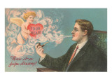 Was it a Pipe Dream Cupid and Smoke Prints