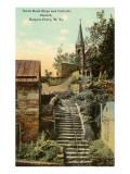 Escalera de piedra, Iglesia católica, Harper's Ferry, Virginia Oeste Láminas