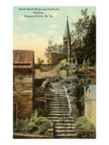 Rock Steps, Catholic Church, Harper&#39;s Ferry, West Virginia Posters
