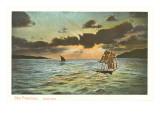 Square Rigged Ship, Lateen Sailboat, San Francisco, California Art