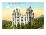 Mormon Temple, Salt Lake City, Utah Prints