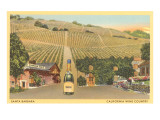 Santa Barbara, California Wine Country Prints