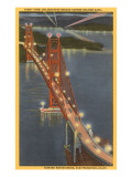 Night, Golden Gate Bridge, San Francisco, California Prints