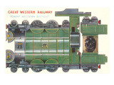 Cut-out Model of Train, Great Western Prints