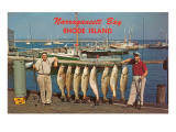 Men with Fish, Narragansett Bay, Rhode Island Posters