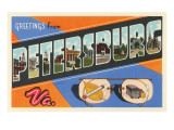 Greetings from Petersburg, Virginia Posters