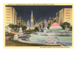 Statuary, Buildings, World's Fair, San Francisco, California Print
