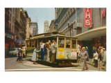 Cable Car on Turntable, San Francisco, California Posters