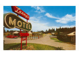Larry's Vintage Motel Print