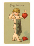 To My Valentine, Cupid with Broken Hearts Art
