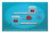 Valentine Tape Measures Posters