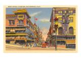 Grant Avenue, Chinatown, San Francisco, California Posters