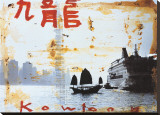Kowloon Stretched Canvas Print by Tony Soulie