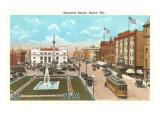 Monument Square, Racine, Wisconsin Print