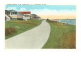 Narragansett Road, Prudence Island, Rhode Island Poster