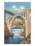 Monroe Street Bridge, Spokane, Washington Poster
