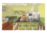Interior, Mack's Waffle House, Retro Diner Prints