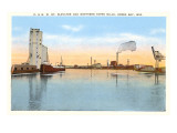 Grain Elevator and Paper Mills, Green Bay, Wisconsin Posters