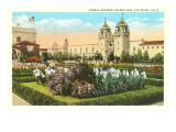 Formal Gardens, Balboa Park, San Diego, California Prints