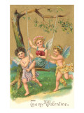 To My Valentine, Cupids with Swing Poster