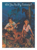 Cowboy Valentine, around the Campfire Prints