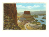 Toll Gate Rock, Green River, Wyoming Print