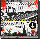 Urban Beat Stretched Canvas Print by Louise Carey