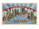 Greetings from Brattleboro, Vermont Prints