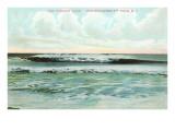 Combing Wave, Narragansett Pier, Rhode Island Poster