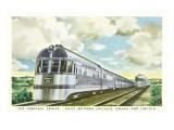 Streamlined Nebraska Zephyr Train Print