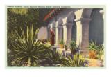 Sacred Gardens at Mission, Santa Barbara, California Posters