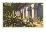 Sacred Gardens at Mission, Santa Barbara, California Posters