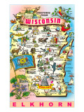Greetings from Wisconsin, Elkhorn Prints