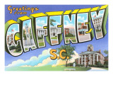 Greetings from Gaffney, South Carolina Posters