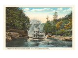 Steamer in the Narrows, Wisconsin Dells Prints