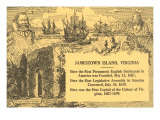 Historical Facts about Jamestown Island, Virginia Prints