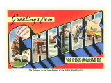 Greetings from Chetek, Wisconsin Posters