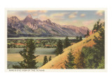 View of the Tetons, Wyoming Art