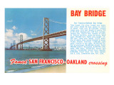 Oakland Bay Bridge, San Francisco, California Poster