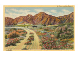 Home in the Desert, San Diego County, California Prints