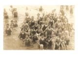Bathers in Great Salt Lake, Utah Prints