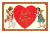 To My Valentine, Cupids with Heart Prints