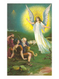 Angel Greeting Shepherds Prints