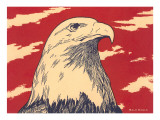 Woodcut of Bald Eagle Posters
