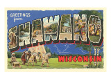 Greetings from Shawano, Wisconsin Posters