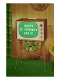 Happy St. Patrick's Day, Green Screen TV Plakaty