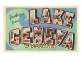 Greetings from Lake Geneva, Wisconsin Print