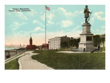 Juneau Monument, Milwaukee, Wisconsin Prints